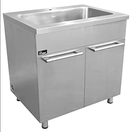 Amazon Com Dawn Ssc3636 Stainless Steel Sink Base Cabinet With