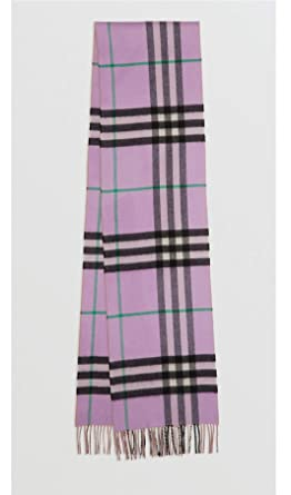 3f36f48a9 BURBERRY LONDON - 100% Cashmere Scarf Long Reversible Check Double-faced Cashmere  Scarf Pale