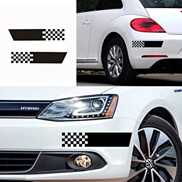 Kaizen auto decal scratch seal bumper sticker decals 2pcs die cut chequered flag vinyl sticker