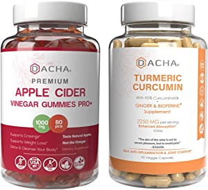 Triple Strength Anti Inflammatory Bundle - Advanced Turmeric Curcumin & Apple Cider Vinegar Gummies With Mother, Plus Bioperine Ultra Absorb Formula, High Potency and Count, Standardized Natural Herbs