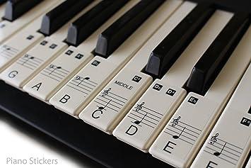 ... de pegatinas o el piano 61 clave teclado música aprender a jugar rápido laminado, Ultra Thin Claro plástico ps1 C 61: Amazon.es: Instrumentos musicales