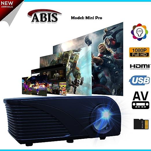 ABIS HD Ready Projector Wireless Bluetooth Smart Projector 720p ...