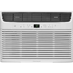 Frigidaire 10,000 BTU 115V Window-Mounted Compact Temperature Sensing Remote Control, White Air Conditioner