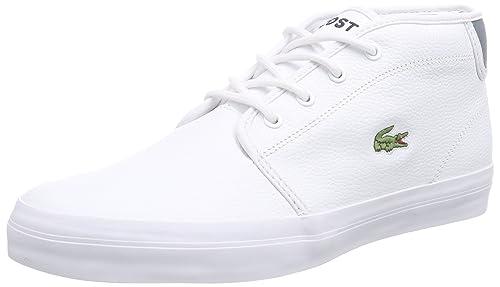 Lacoste Ampthill Chunky SEP - Zapatillas Deportivas Altas de Cuero Hombre, Color Blanco, Talla 45: Amazon.es: Zapatos y complementos