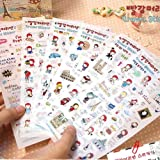 HeroNeo® 6 hojas lindo de Anne Diario de viaje del libro de recuerdos de la decoración Photo Corea Stickers