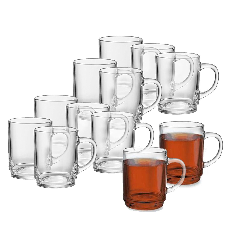(6er Set) 6er oder 12er Teeglas- Set mit oder ohne Tassenbaum für Kalt - und Heißgetränke, Grog- Glühweingläser, Hitzebeständig, Spülmaschinengeeignet, Teebecher, Kaffeebecher, Cappuccino, Milchkaffee, Tee Glas Geschirr Hitzebeständig Spülmaschinengeeigne