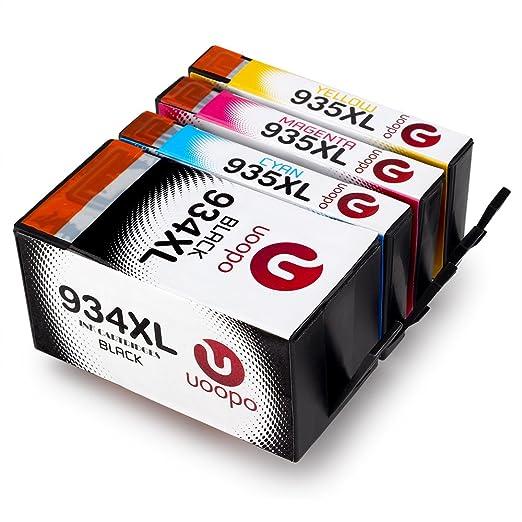 11 opinioni per Uoopo Multipack Sostituzione per HP 934XL 935XL Cartucce d'Inchiostro Alta