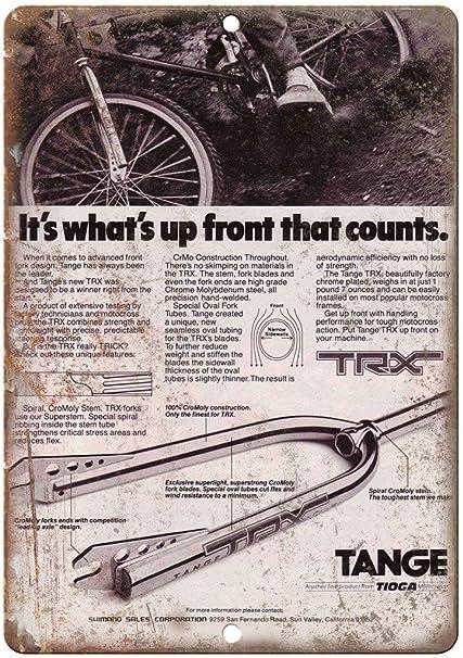 Tange BMX Forks Póster de Pared Metal Creativo Placa ...