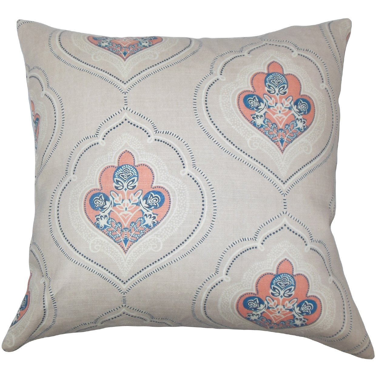 The Pillow Collection Aafje Floral Bedding Sham Coral King//20 x 36