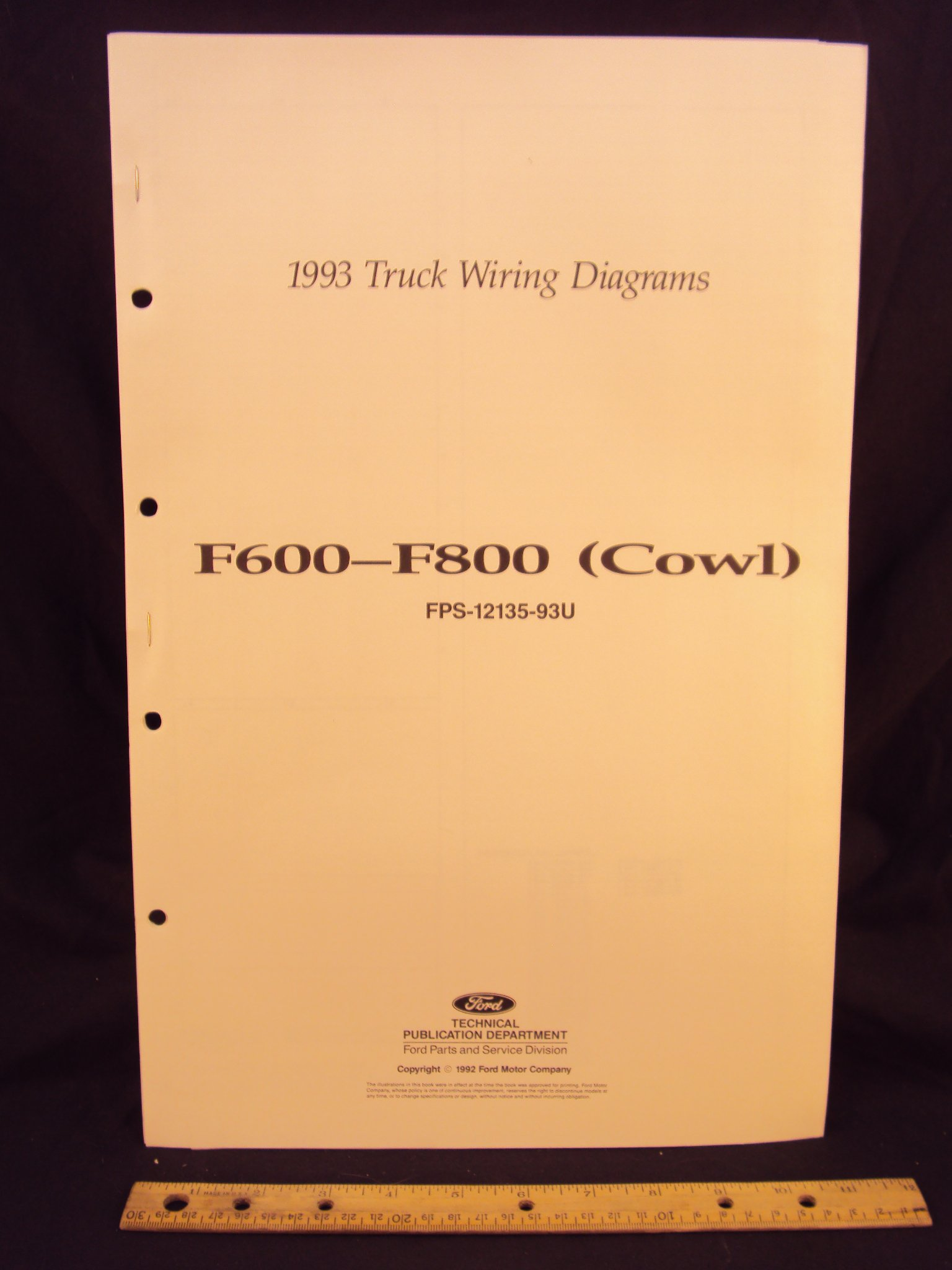 1993 ford f600, f700, & f800 series cowl truck electrical wiring ... 1993 ford f700 wiring diagrams  amazon.com