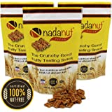Nadanut Pecan, Pecan Substitute, Nut Allergy Safe, Crunchy Good Nutty Taste, Healthy & Nutritious, 8oz Resealable Bags…