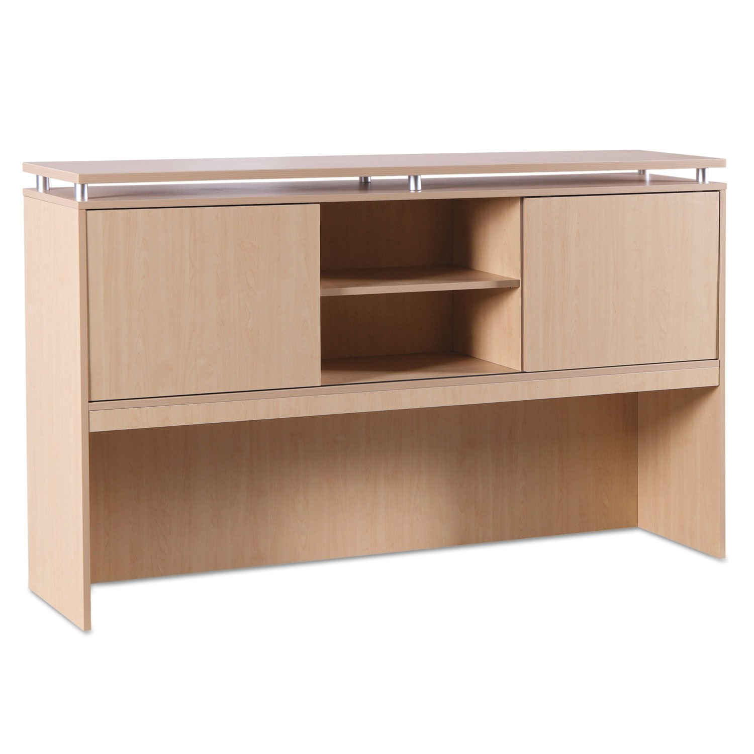Alera - SedinaAG Series Hutch with Sliding Doors - 72w x 15d x 42-1-2h - Maple SE267215MP (DMi EA