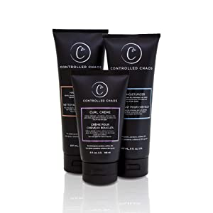 Controlled Chaos As Seen on Shark Tank Bundle Package: Hydrating Shampoo, Cleansing Conditioner and Curl Defining Cream, 3pcs in one Pack for All Hair Types to Control Curly, Anti-frizz and Wavy Hair