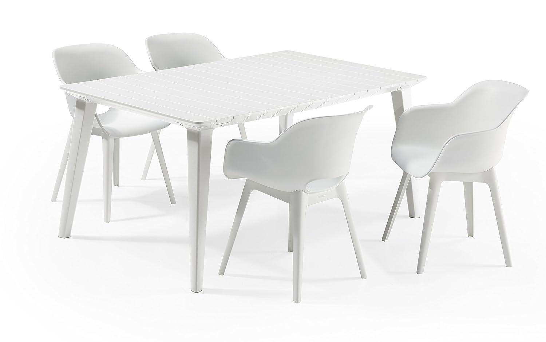 Keter - Set de mobiliario Lima/Akola (mesa + 4 sillas), color ...