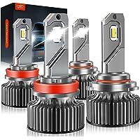 $39 » 9005/HB3 H11/H8/H9 LED Headlight Bulbs, LAWTOOLIGHT High Low Beam Headlight…