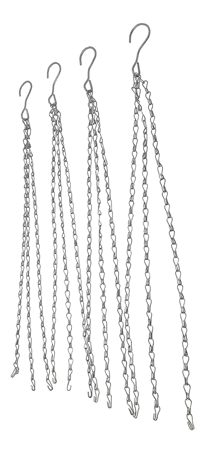 Nickanny s Medium Duty 24 Inch Hanging Flower Basket Galvanized Replacement Chain -3 Point Garden Plant Hanger Holds 75 Pounds 4
