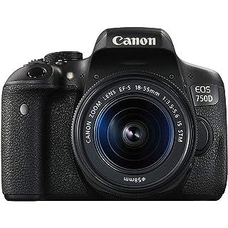 Canon EOS 750D 24.2MP Digital SLR Camera  Black  + 18 55 is STM Lens + Memory Card + Carry Bag