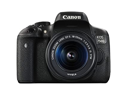 Canon EOS 750D 24 2MP Digital SLR Camera (Black) + 18-55 is STM Lens +  Memory Card + Carry Bag