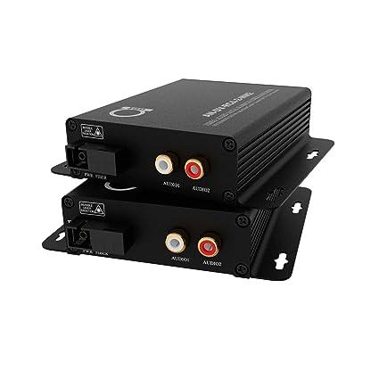 Amazon.com: Multimodo RCA Audio Over Fiber Converter Kit de ...