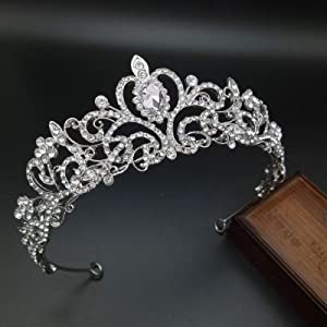 Mcrown Crystal Tiara and Crowns for Women Princess Headbands Wedding Bridal Tiaras Girl Prom Birthday Party Silver