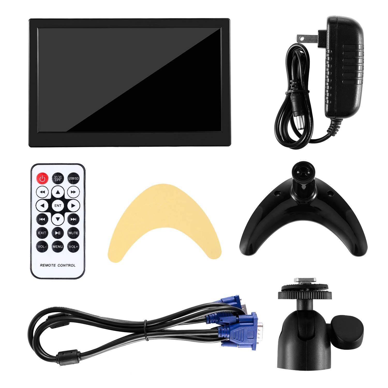 ATian 11,6 Zoll 1920 x 1080 Full HD LCD IPS Weitwinkel Bildschirm Video und MP5-Player und Sicherheitsmonitor mit Lautsprecher und Fernbedienung und AV//VGA//HDMI//BNC//USB Eingang