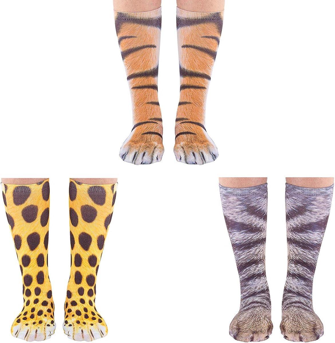 3D Socks Funny Unisex Adult Elastic Sock Cute Animal Cat Print Foot Socks Pair