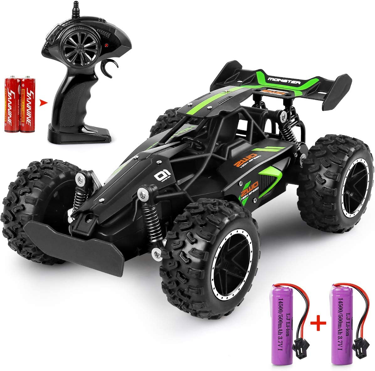 MOSFiATA G03063R RC 1:18 Scale 2.4Ghz Remote Control Trucks, Rechargeable Batteries (Green+Black) WAS £26.99 NOW £13.49 w/code NLB9LAL4 + 5% voucher on listing @ Amazon