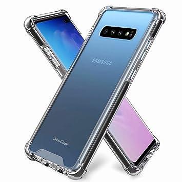 DYGG Compatible con Funda para Samsung Galaxy s10 plus/s10+, Carcasa Forro Transparente TPU Silicona Flexible Case*2[Non Incluido Protector de ...