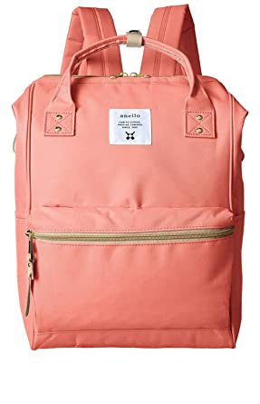 f3431d578233 Image Unavailable. Image not available for. Color  Japan Anello Backpack  Unisex LARGE CORAL PINK Rucksack ...