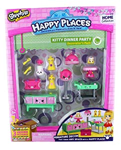 Shopkins Happy Places Season 1 Decorator Pack - Kitty Dinner Party
