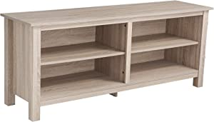 """Rockpoint Plymouth Wood TV Stand Storage Console, 58"""", Natural"""