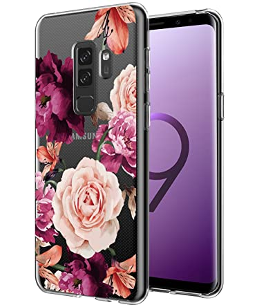 87dfce39ab Galaxy S9 Plus Case, Galaxy S9+ Case with Flowers BAISRKE Slim Shockproof  Clear Floral Pattern