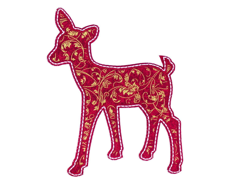 Christmas Reindeer Silhouette.Amazon Com Christmas Reindeer Silhouette Patch Iron On