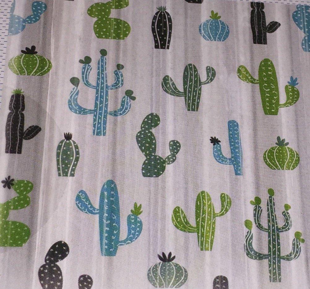 Splash Peva Mojave//Cactus Plants Shower Curtain