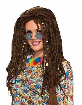 Hippie Peluca con Rasta Hombre Mujer Dreads Seventies Woodstock de los años Setenta