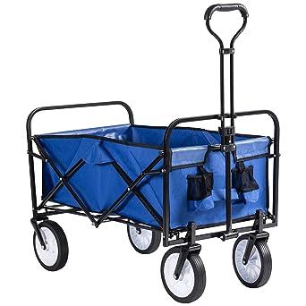 Grandma Shark Carro de jardín de servicio pesado Carro de vagón plegable Carro de mano Carro de jardín Carretilla utilitaria Carretilla: Amazon.es: Industria, empresas y ciencia