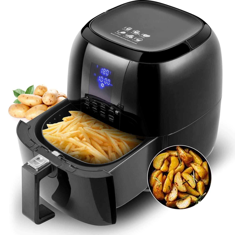 Sinoartizan Air Fryer Deep Fryer Oven Electric Airfryer 4.2 Quart 1400 Watt Oil Free Electirc Hot Air Fryer Deep Fryer Electric Oven With Basket And Cookbooks For Home Kitchen