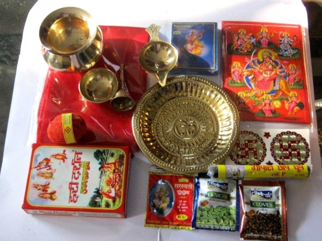 Artcollectibles India Navratri Havan Puja Thali Hindu Pooja Rituals House Warming To Get Rid Of Evils