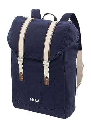1fb4a3411003c MELAWEAR MELA V Rucksack aus Bio Baumwoll Canvas - Hochwertiger Damen   Herren  Tagesrucksack aus 100