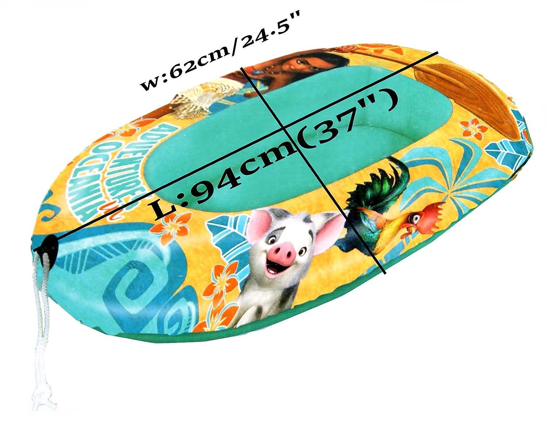 Disney Vaiana Barco de piscina de agua bote pequeño inflable childs kid, Oficial con licencia: Amazon.es: Deportes y aire libre