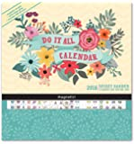 Orange Circle Studio 17-Month 2018 Do It All Magnetic Wall Calendar, Secret Garden
