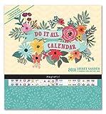 Orange Circle Studio 17-Month 2018 Do It All Magnetic Wall Calendar, Secret Garden