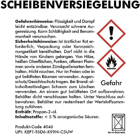 Abacus Anti Beschlag Scheibenversiegelung Set Scheibenversiegelung Und Reiniger Mit Antibeschlagwirkung 7471 Auto