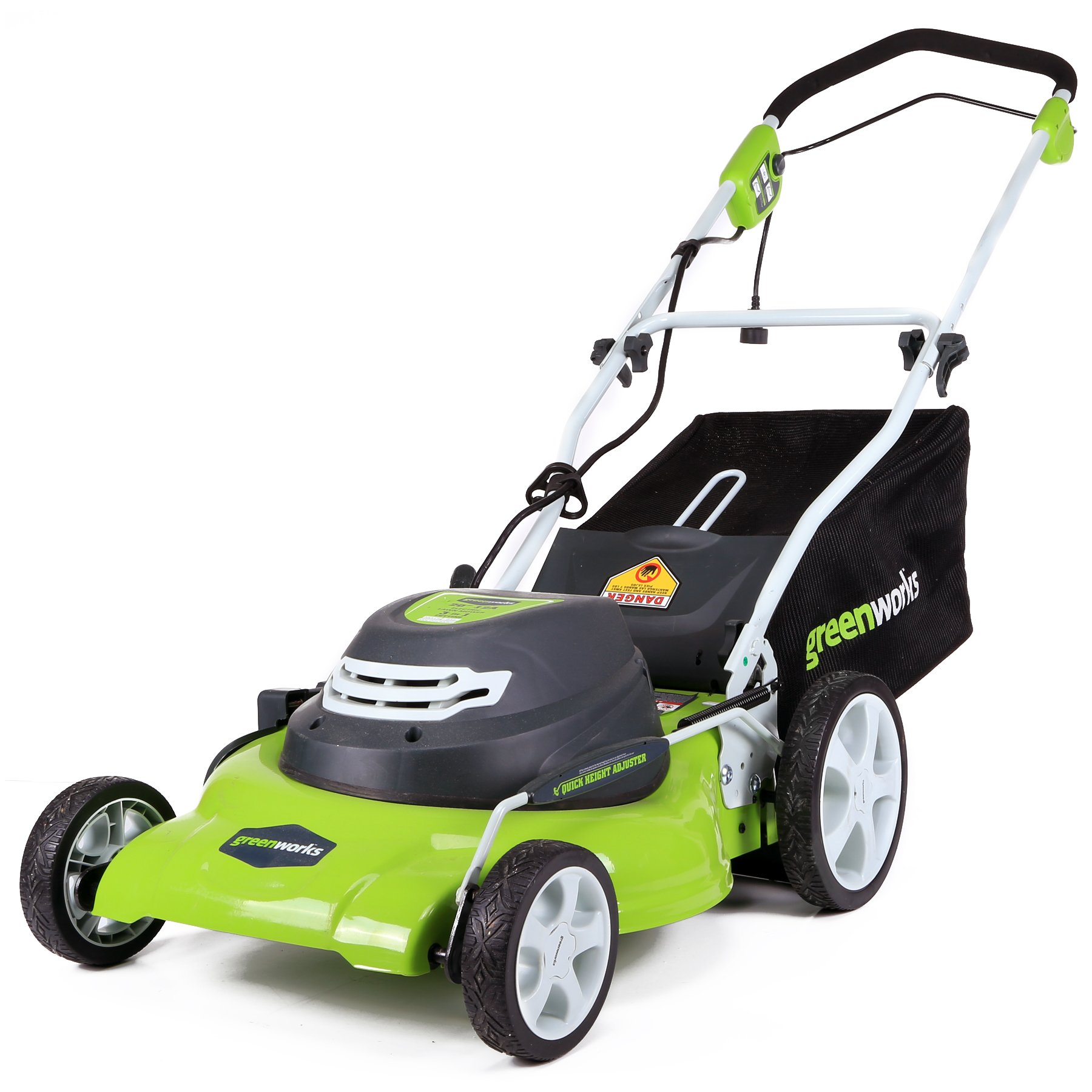 GreenWorks 20-Inch 12 Amp Corded Electric Lawn Mower 25022, 20 inch by Greenworks