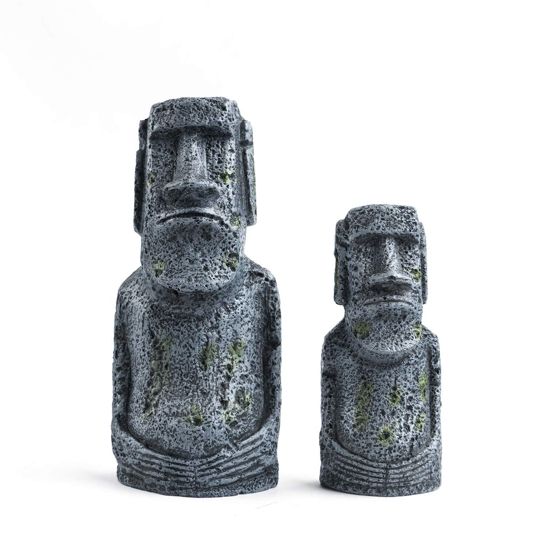 Niteangel-Ancient-Easter-Island-Stone-Head-Aquarium-Ornament-Fish-Tank-Decoration-Accessories