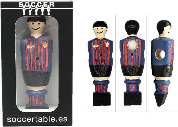 Soccer Table SL Individual Jugador de Futbolín Barcelona con imán, presentado en una Exclusiva Caja expositora, Color Azul/Granate (art-066): Amazon.es: Juguetes y juegos