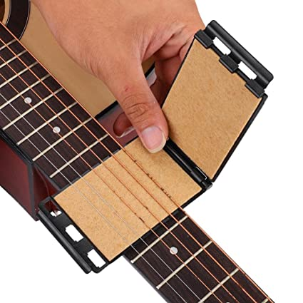 Guitarra Cuerdas Diapasón Limpiador Mantenimiento Herramienta para Guitarra Eléctrica Acústica(Negro)