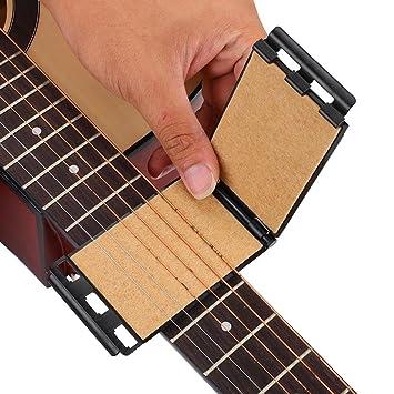 Guitarra Cuerdas Diapasón Limpiador Mantenimiento Herramienta para Guitarra Eléctrica Acústica(Negro): Amazon.es: Deportes y aire libre