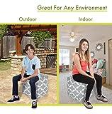 Majestic Home Goods Gray Trellis Indoor/Outdoor