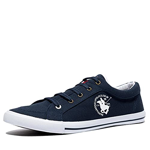 Santa Monica Polo Club - Zapatillas para Hombre Azul Marino 41 ...